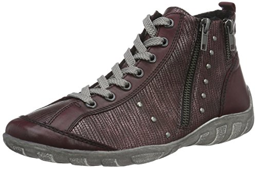 Remonte R3458, Baskets Basses Femme Rouge (Chianti/Bordeaux / 35)