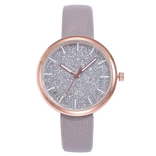 Neuer Trend  Armbanduhr Damen Analoge Quarz Uhren Wrist Watch ultradünn Classic Minimalistisches Design Armbanduhr Leder Zifferblatt Uhr LEEDY
