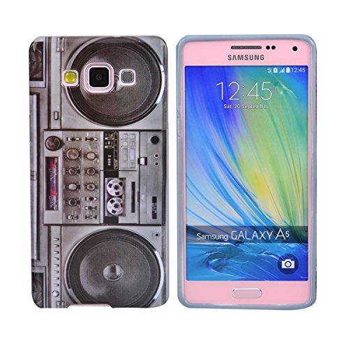 gada - Handyhülle für Samsung Galaxy A5 - Hochwertiges TPU Case Schutzhülle im stylischen Design - Ghettoblaster
