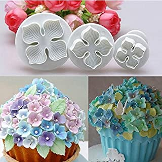 AbleGrow(TM) 3PC Hydrangea Fondant Cake Decorating Sugarcraft Plunger Cutter Flower Style NEW