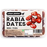 Urban Platter Rabia Dates, 500g / 17.6oz [All Natural, Khajur & Middle-Eastern Dates]