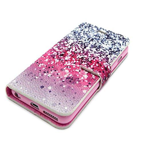 MOONCASE iPhone 6S Plus Coque Portefeuille [Porte-cartes] Modèle Case Housse en Cuir Etui à rabat avec Béquille pour iPhone 6 / 6S Plus (5.5 inch) -YX11 YX10