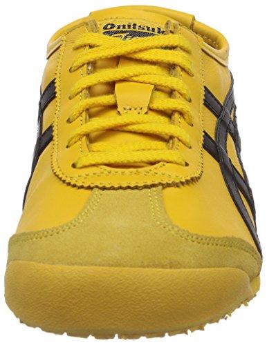 Onitsuka Tiger Mexico 66, Sneaker Low-top Unisex-adulto Giallo (yellowblack Yellowblack)