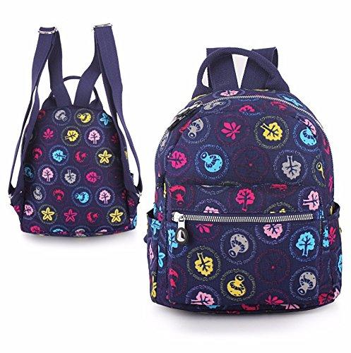 nuova studentessa borsa, signore del tempo libero borsa borsa da viaggio,funghi blu funghi blu