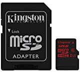 Kingston SDCA3/32GB microSDHC/SDXC 32GB Speicherkarte mit Adapter (UHS-I U3, 90R/80W)