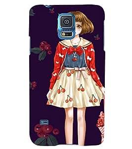 Printvisa Girl With An Umbrella Back Case Cover for Samsung Galaxy S5 Mini::Samsung Galaxy S5 Mini G800F
