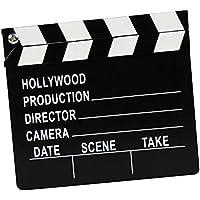 TOYMYTOY Tablero de la chapaleta de director de madera Película Clapboard Movie Kids Toy