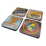 De Simpsons CSP0023 Meerkleurig 10 x 10cm Moes Taven 4 Coaster Set