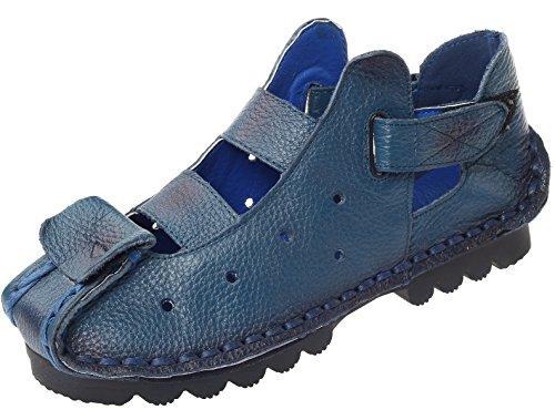 Vogstyle Donna Nuove Sandali di Pelle a Mano Dell'estate 4 Colori Stile-2 Blu