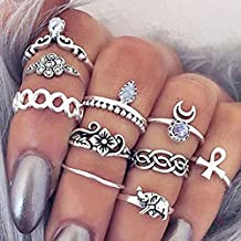 10pezzi Vintage Knuckle Ring Anello Tribal Ethnic