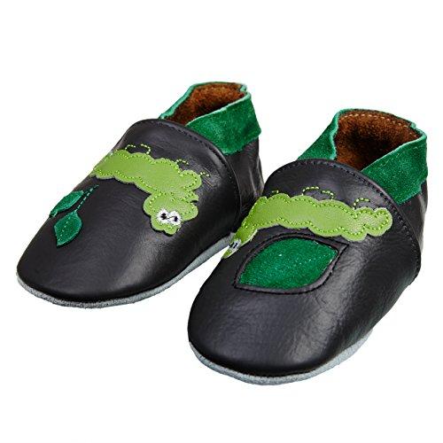 SmileBaby chaussures premiers pas chaussons pour bébé bleu camion de pompiers 18 - 24 mois Gris chenille