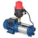 Anhon 1100-2200W Zentrifugal Booster Wasserpumpe mit Oder Ohne Schalter Hauswasserwerk 5100 L/h 1300 W Garten Jetpumpe Wasserpumpe Kreiselpumpe (MC-2200 mit Druckschalter)