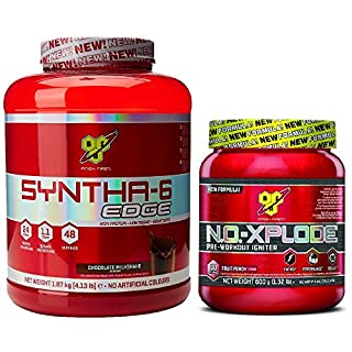 BSN Syntha-6 Edge 1.87kg Chocolate Milkshake with N.O.-Xplode Fruit Punch 600g