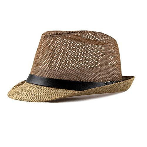 Chytaii Herren Panamahut Braun Braun 56-58cm