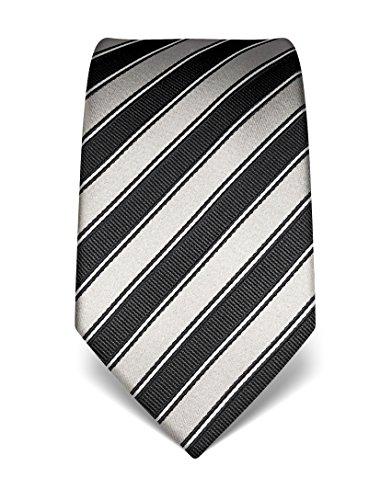 VB-Cravatta Uomo Seta a Righe-Molti colori disponibili Grey Taglia unica