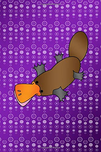 Journal: Purple bubbles platypus notebook