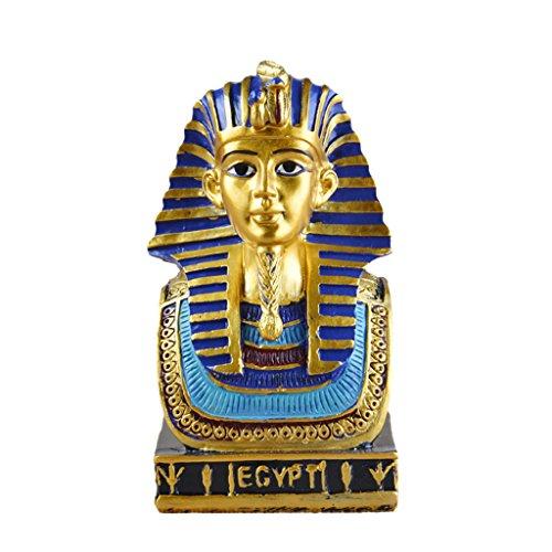 Descripción:       - Estatuilla creativa de la estatua de la resina de la manera del estilo egipcio.    - Con diseño de dibujo de dibujo de color, pura hecho a mano, la calidad asegurada.    - Hecho de la resina, liso y exquisito, Noble magní...