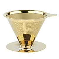 Reusable Coffee Filter, SOONHUA 18\8 (304) Stainless Steel Food Grade Paperless Pour Over Coffee Maker
