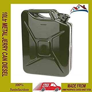 MANMAX 10 LITRE JERRY METAL CAN FOR PETROL DIESEL OIL FUEL WATER CONTAINER