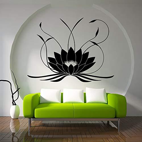 jiushizq 3D Mandala Lotus wandaufkleber PVC abnehmbare Yoga wandtattoos Aufkleber für Schlafzimmer Wohnzimmer Dekoration wandbild rot l 58 cm x 78 cm
