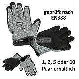 Schnittschutz Handschuh | Schutzklasse 5 grau/schwarz | EN38 EN 4208 | EbyReo® Schnittschutzhandschuhe | Arbeitshandschuhe Handwerk Garten | Anti-Schneide-Schutz (1 Paar , Größe 11)