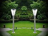 2 x Solar-Stehleuchte Jolin mit Bewegungsmelder oder Dauerbeleuchtung bei Nacht H85cm-202cm Wegeleuchte 12 LED Gartenbeleuchtung Standleuchte Sockelleuchte