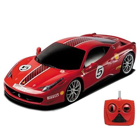 FERRARI 458 Challange Rally-Edition - Original Lizenzierter, Ferngesteuerter RC Auto/Car/Fahrzeug in ROTER SONDEREDITION! Inkl. Fernsteuerung! Fertig Montiert (Ready-To-Drive)! Maßstab 1:18!