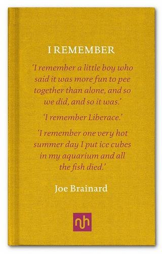 I Remember por Joe Brainard