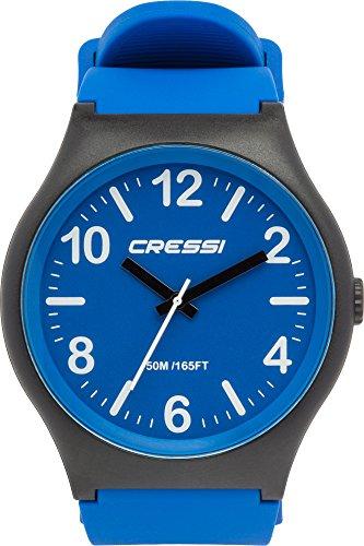 Cressi Watch Echo, Orologio Analogico Impermeabile 5 ATM Unisex, Nero Blu,...
