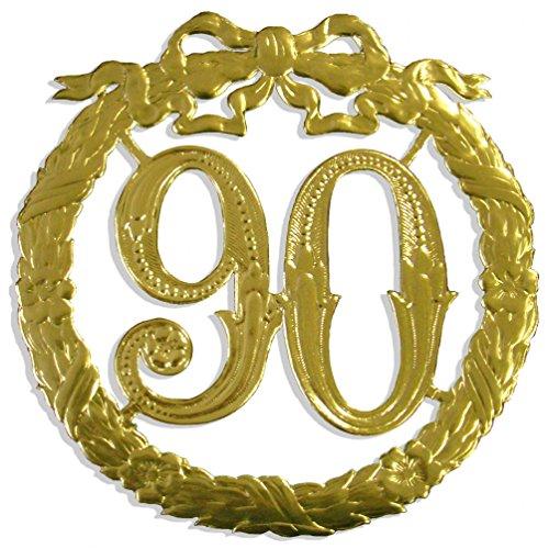 Kunze A014026901 Jubiläumszahl 90, Ø 24 cm, Gold