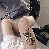 Temporäre Körperkunst Entfernbare Tattoo Aufkleber Schwarze Blume #5138 Sticker Tattoo Temporary Tattoo - FashionLife