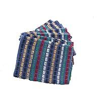 10pieza 60303, toalla de rizo paño de cocina, trabajo, tamaño: 45x 90cm 100% algodón gewürfelte, imitación multicolor 100% algodón