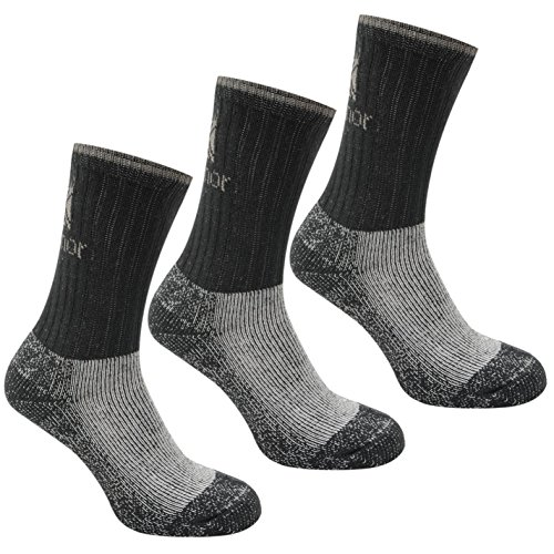 Karrimor Heavyweight Boot Socks Black Washable 3 Pack Kids Accessories Junior Size 1-6 UK / 33-39 EU