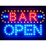 LAMPE NEON ENSEIGNE LUMINEUSE LED led072-b BAR OPEN LED Neon Sign WhiteBoard