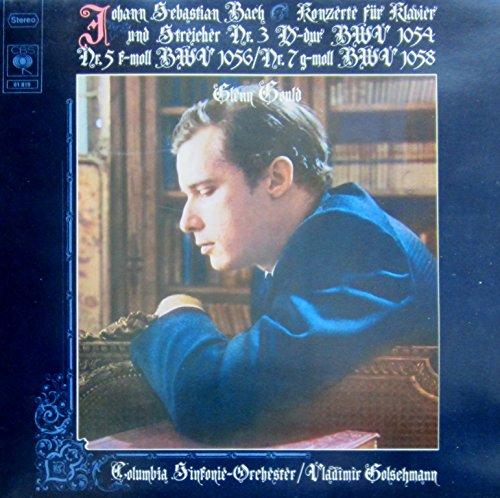 Bach: Konzerte für Klavier und Streicher Nr. 3 D-dur BWV 1054, Nr. 5 f-moll BWV 1056 & Nr. 7 g-moll BWV 1058 [Vinyl LP] [Schallplatte]