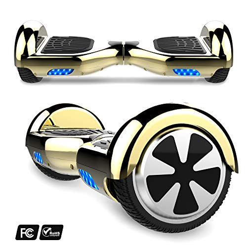 Preisvergleich Produktbild MARKBOARD 6, 5zoll Hoverboard Elektro Scooter Selfbalance Scooter für Kinder,  700W Motor,  Bluetooth Musik Lautsprecher (6, 5Chrom Gold)