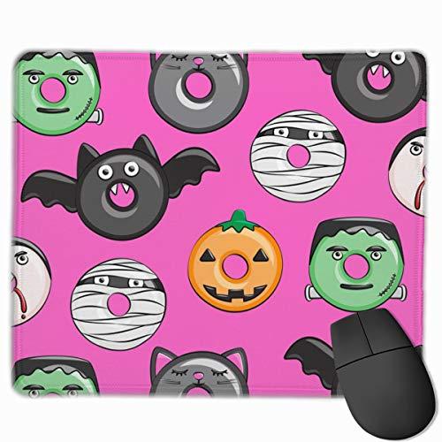 Halloween Donut Medley Pink Pumpkin Frankenstein Black Cat D Neoprene Mouse pad Office Space Decor Home Office Computer Accessories Mousepads 25 X30 cm