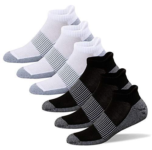 Gut Stricken Kupfer antibakteriell Athletic No Show Socken für Männer & Frauen-6Pack - - X-Large