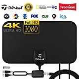 Tuopuna TV Antenna, Amplified Indoor HDTV Antenna 120 Mile Range with Detachable Amplifier