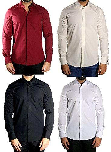 MUGA -  Camicia da cerimonia  - Basic - Classico  - Maniche lunghe  - Uomo Nero