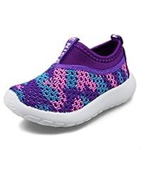 ce5ab2662ca9 Hawkwell Baby Boys Girls Toddler Breathable Mesh Slip-On Walking Shoe  Running Sneakers(Toddler