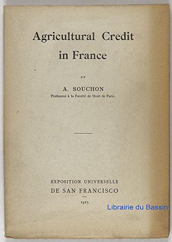 Agricultural Credit in France