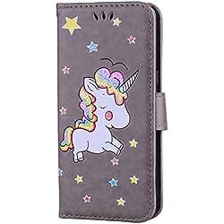 Funda estilo libro de unicornio para celular