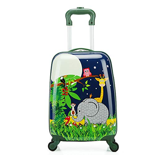 JBAG-one 18-Zoll-Kindergepäck mit 4 Spinner-Rädern, leichtem Hartschalenkoffer