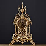 Jack Mall Reloj retro de estilo europeo Relojes antiguos Reloj de mesa de metal de la sala de estar