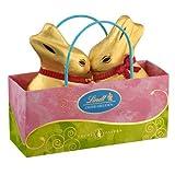 Geschenkidee Schokolade - Lindt Oster-Freuden, Goldhasen in einer kleinen Tasche