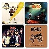 AC DC - Untersetzer Coaster 4er Set - Cover Mix