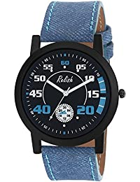 RELISH RE-S8124BB Black Slim Analog Watches For Men's And Boy's