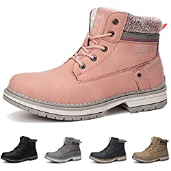 ABTOP Botas Mujer Botines Zapatos Invierno Botas de Nieve Cálido Fur Forro Aire Libre Boots Urbano Fiesta Oficina Caminando Senderismo 36-41
