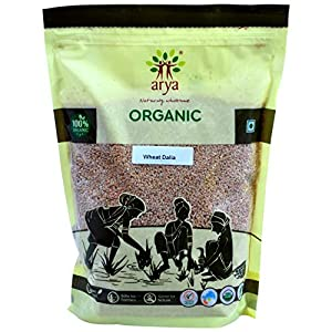 Arya Farm Certified Organic Wheat Dalia, 2kgs